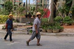 Guangdong Zhongshan, Κίνα: κατοικημένη κατασκευή πράσινων ζωνών Στοκ Εικόνες