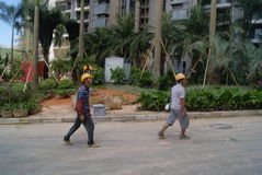 Guangdong Zhongshan, Κίνα: κατοικημένη κατασκευή πράσινων ζωνών Στοκ Φωτογραφία