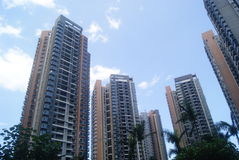 Guangdong Zhongshan, China: City residential buildings Stock Photography