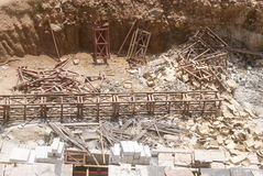 Guangdong Zhongshan, China: construction site Stock Photography