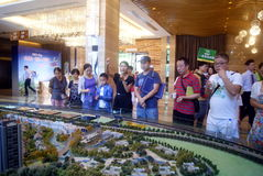 Guangdong Zhongshan, China: real estate sales center hall Stock Photography