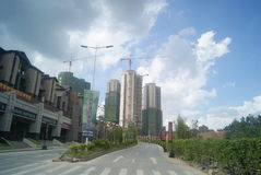 Guangdong Zhongshan, China: residential area and road traffic Stock Image