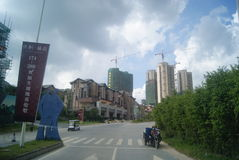 Guangdong Zhongshan, China: residential area and road traffic Stock Photo