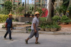 Guangdong Zhongshan, China: residential green belt construction Stock Photo