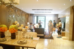 Guangdong Zhongshan, China: residential interior landscape Stock Image