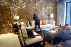 Guangdong Zhongshan, China: residential interior landscape Royalty Free Stock Image