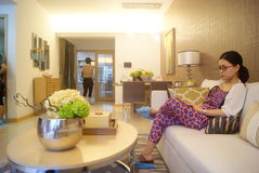 Guangdong Zhongshan, China: residential interior landscape Stock Images