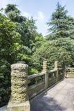 Guanghua Pavilion stone handrail Stock Image