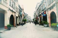 Beihai old street, Guangxi. Guangxi Beihai old street -- Zhuhai road is a nearly two hundred years old street, built in 1821. When it was first built, it was royalty free stock image