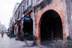 Beihai old street, Guangxi. Guangxi Beihai old street -- Zhuhai road is a nearly two hundred years old street, built in 1821. When it was first built, it was royalty free stock photo