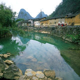 Guangxi Huang Yao Houses images stock