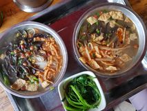 Guangxi Luosifen. Luosifen, Chinese noodle dish and a speciality of the city of Liuzhou, in Guangxi. As know as Snail rice noodle Royalty Free Stock Photography