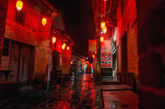 Guangxi province China, famous tourist attractions in Hezhou, Huang Yao ancient town. Royalty Free Stock Photo