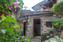 Guangxi province China, famous tourist attractions in Hezhou, Huang Yao ancient town. stock photography