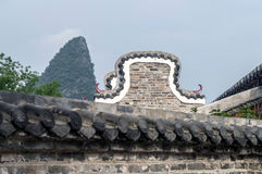 Guangxi-Provinz China, berühmte Touristenattraktionen in Hezhou, alte Stadt Huang Yaos Stockbilder