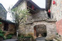 Guangxi-Provinz China, berühmte Touristenattraktionen in Hezhou, alte Stadt Huang Yaos Stockbild