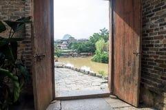 Guangxi-Provinz China, berühmte Touristenattraktionen in Hezhou, alte Stadt Huang Yaos Lizenzfreies Stockbild
