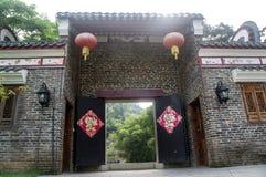 Guangxi-Provinz China, berühmte Touristenattraktionen in Hezhou, alte Stadt Huang Yaos Lizenzfreie Stockfotografie