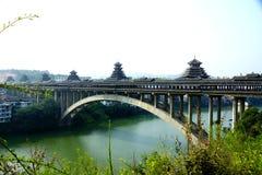 Guangxi sanjiang μίμησης Cheng Yangqiao της Κίνας - sanjiang ήχος καμπάνας η αρχαία οδική γέφυρα γεφυρών στοκ φωτογραφία με δικαίωμα ελεύθερης χρήσης