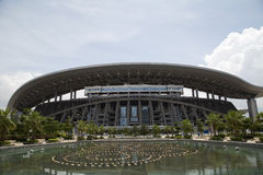 Guangxi Sports center. In Nanning city, China .The 45th World Artistic Gymnastics Championships will be held in here on Oct 3-12, 2014 Royalty Free Stock Images