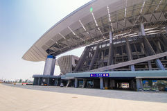 Guangxi Stadium. Stadium, also known as the southern Guangxi Stadium, located in prime Nanning commerce, tourism, dining, culture and entertainment relative Stock Photos