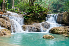 Guangxi Waterfall. Luang Prabang, Laos royalty free stock images