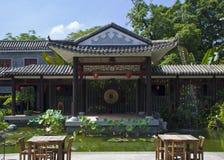Guangzho荔枝海湾的中国古典庭院  库存照片