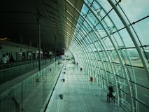 Guangzhou airport. Having a business travelling in Guangzhou and taking a shot in the airport stock photo