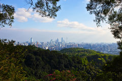 Guangzhou-Ansicht vom baiyun Berg lizenzfreies stockbild