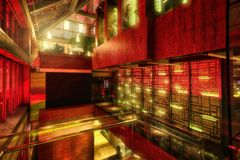 Guangzhou arkitekturhotell Hall royaltyfri fotografi