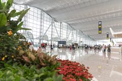 Guangzhou baiyun international airport. Trip, tour.T2 stock photos