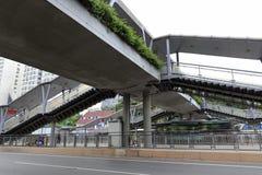 Guangzhou-überdachte Brücke Stockfotografie