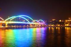 guangzhou bridżowa porcelanowa noc Fotografia Stock