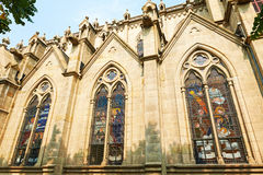 Guangzhou Cathedral side windows Stock Photo