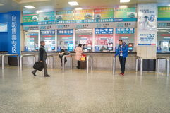 Guangzhou, China: Bus station Royalty Free Stock Image