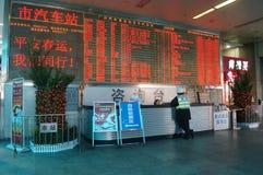 Guangzhou, China: Bus station Royalty Free Stock Photography
