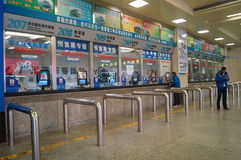 Guangzhou, China: Bus station Royalty Free Stock Images