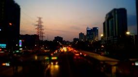 Guangzhou, China: City Road Traffic Stock Photography