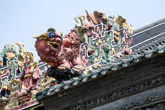Guangzhou, China famous tourist attractions, Chen ancestral hall on the roof of the lion Art Deco Stock Photography