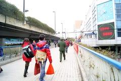 Guangzhou China: het vervoer van het de lentefestival Stock Fotografie