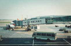 Guangzhou, China - June 25, 2018: China Airlines Airplane Accepted at Guangzhou Airport. stock images