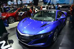 ACURA NSX sportscar. Guangzhou, China - November 18, 2017: ACURA NSX sportscar was exhibited in the 15th China Guangzhou International Automobile Exhibition in Stock Photos