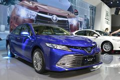 TOYOTA new CAMRY saloon car Stock Images