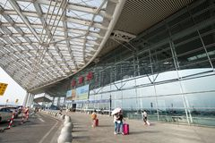 Guangzhou south railway station is the modern building in guangzhou china. Guangzhou,china - oct,7,2017:guangzhou south railway station is the modern building Royalty Free Stock Photos