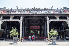 Guangzhou, China`s famous tourist attraction, the ancestral hall of Chen, a house with a distinctive architectural feature of Sout Stock Image