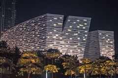 GUANGZHOU, CHINA - Sept. 28: Night view of New Guangzhou Library Stock Photo
