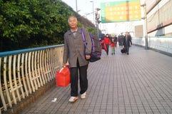 Guangzhou, China: tourists Royalty Free Stock Photo