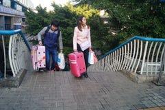 Guangzhou, China: tourists Royalty Free Stock Photography