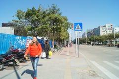 Guangzhou, China: tráfego rodoviário urbano Imagens de Stock