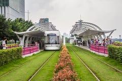 Guangzhou, China, tram Stock Foto's